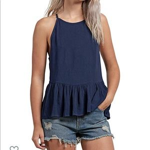 Brand New navy Volcom tank top